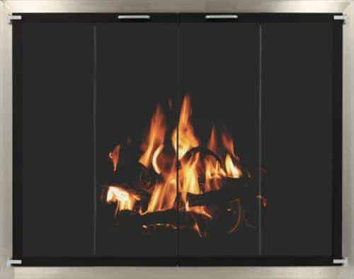 outdoor stainless fireplace doors