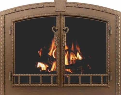 craftman blacksmith fireplace doors