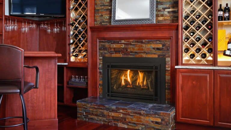 kozy heat gas insert with stone surround