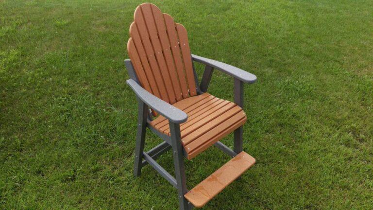 adirondack pub height poly lumber chair