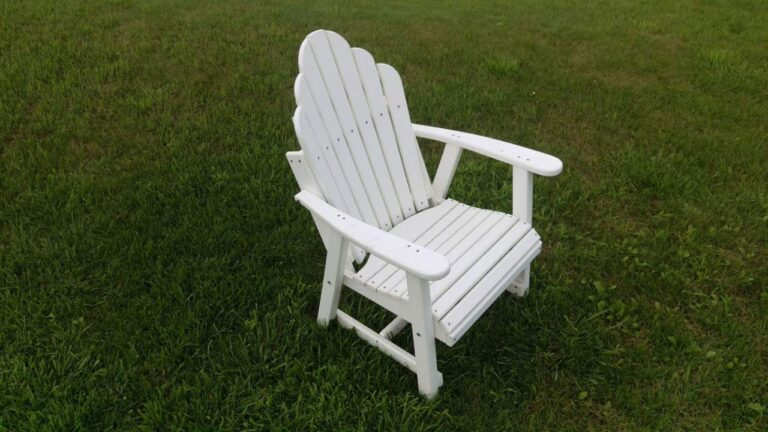 poly lumber standard height adirondack chair