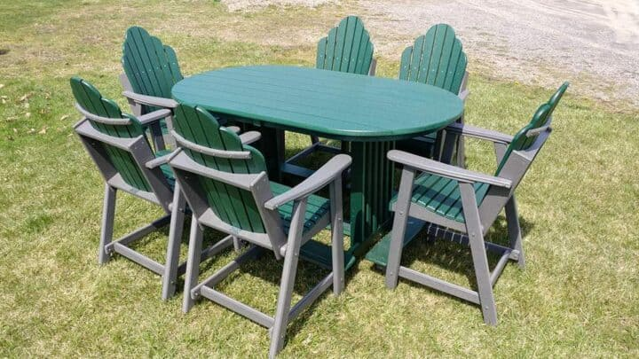 Oval Balcony Height Table Set