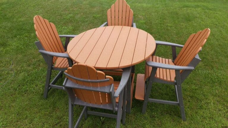 adirondack pub height table set poly lumber