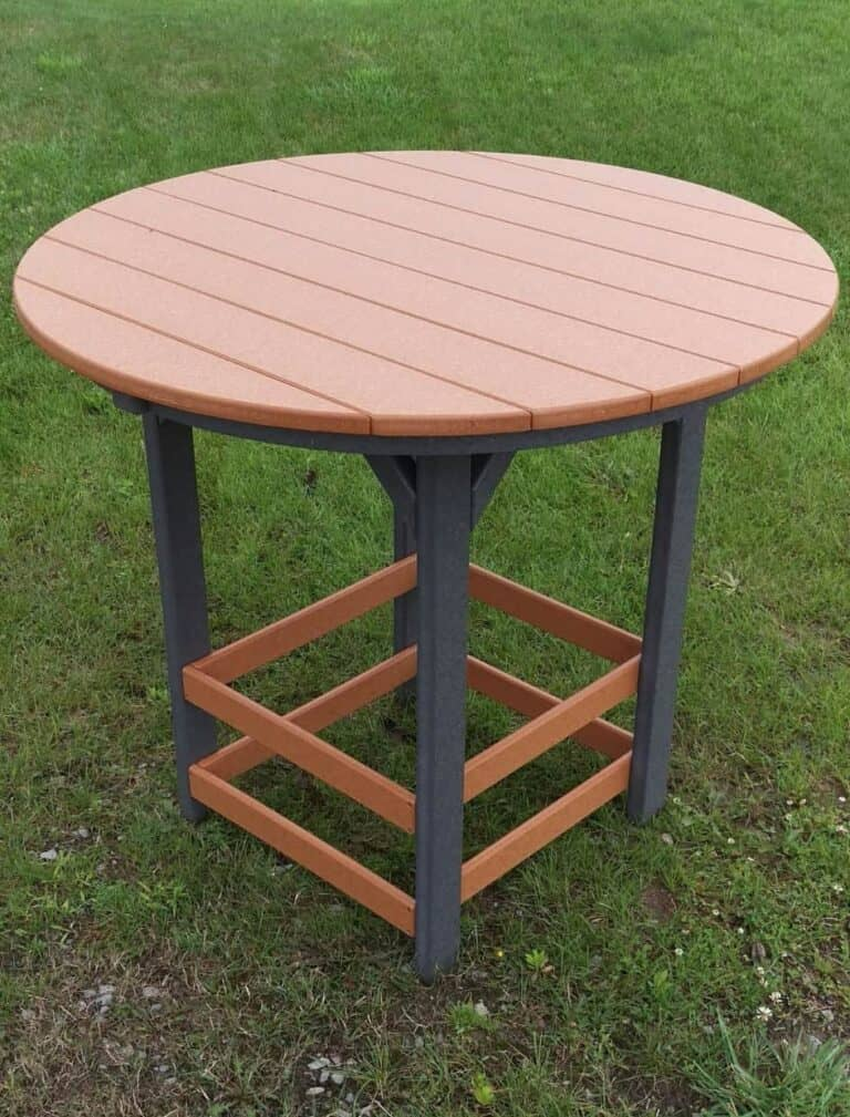 ploy lumber pub height table