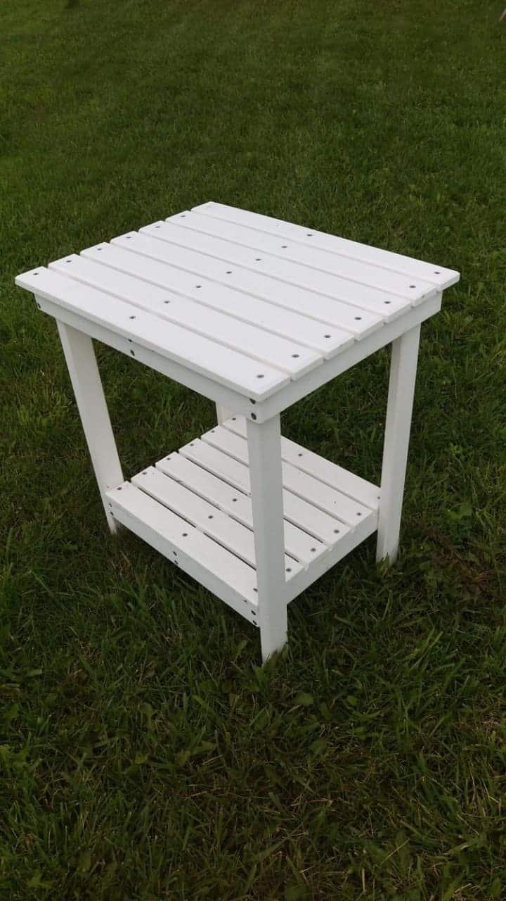 poly lumber side table