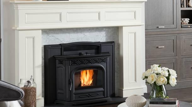 wood pellet fireplace insert