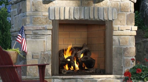 regency outdoor gas fireplace