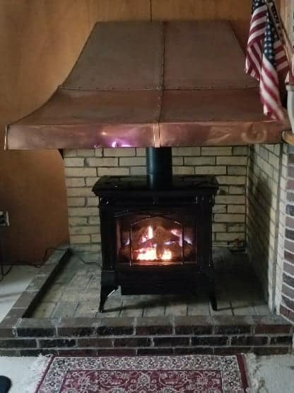 stove installation existing hearth