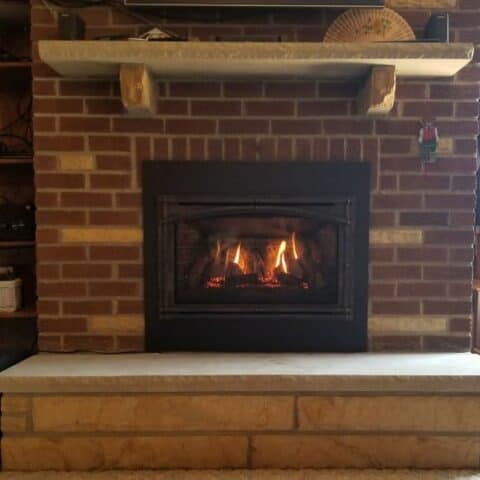 new fireplace install