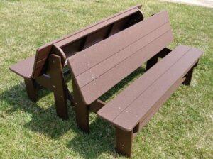 folded half picnic tables