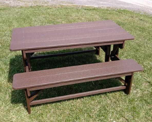 2 half picnic tables for full table
