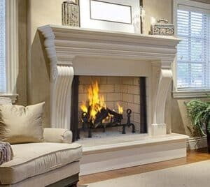 Astria Georgian wood-burning fireplace