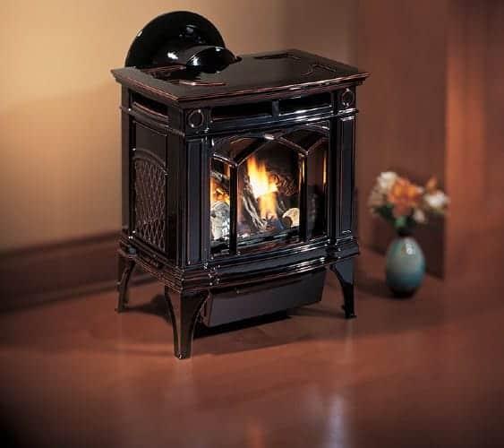 regency h15 gas stove in enamel timberline brown