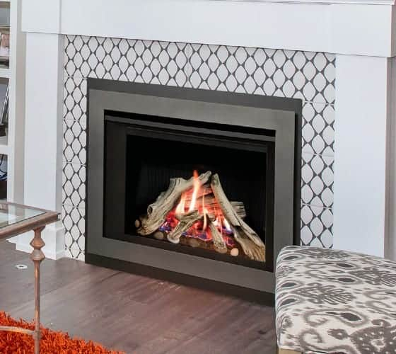 Valor H3 gas fireplace driftwood 4sided