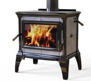 heritage black enamel wood stove