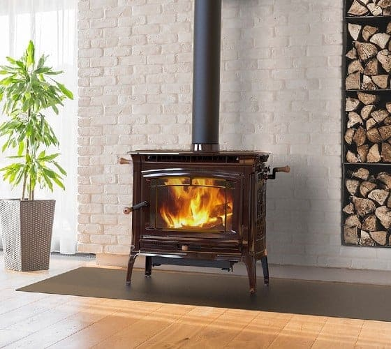 hearthstone manchester wood stove brown enamel finish