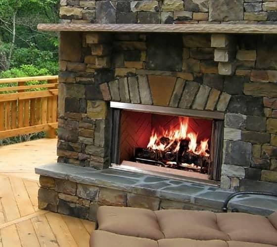 Montana Outdoor Wood Fireplace