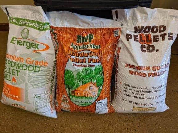 premium hardwood pellet heating fuel