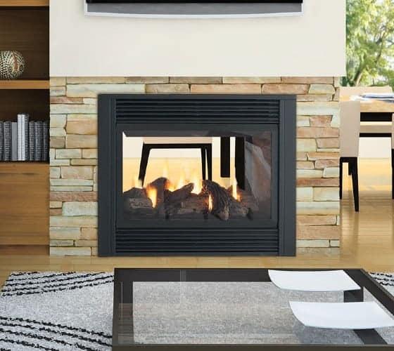 Regency p121 2 sided fireplace