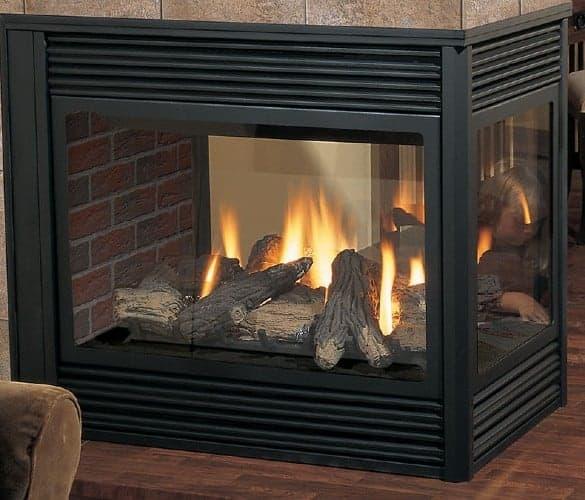 regency p131 3 sided gas fireplace