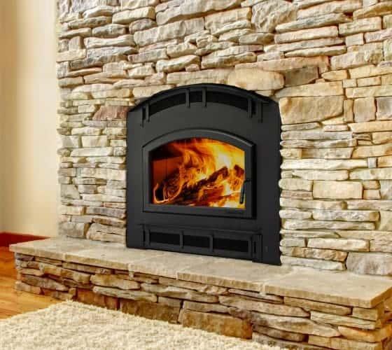 Quadra-Fire Pioneer II wood-burning fireplace