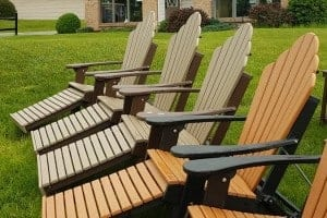 weather resistant poly lumber furniture